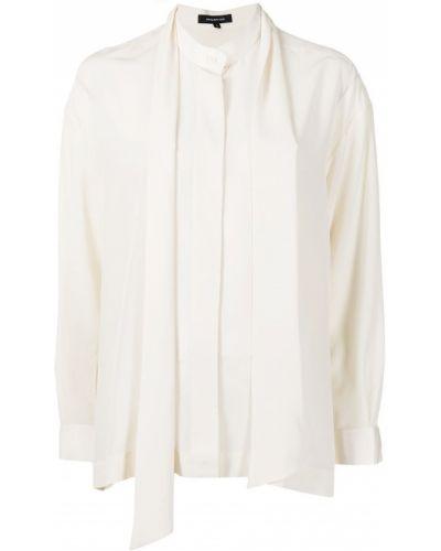 Biała bluzka z jedwabiu Barbara Bui