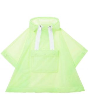 С кулиской с рукавами водонепроницаемая зеленая куртка Burberry Kids
