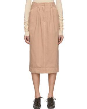 Dżinsowa spódnica elastyczna z paskiem Lemaire