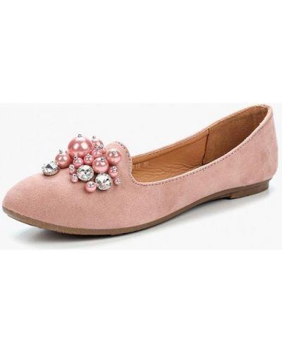 Розовые балетки Clowse