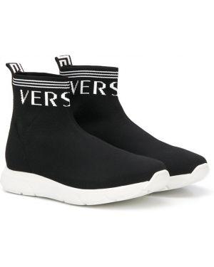 Кроссовки черные Young Versace