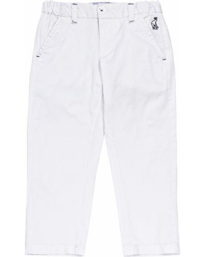 Хлопковые белые брюки North Pole