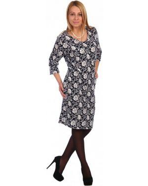 Платье из ангоры с цветочным принтом инсантрик