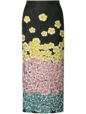 С завышенной талией юбка миди на молнии с вышивкой с разрезом Saiid Kobeisy