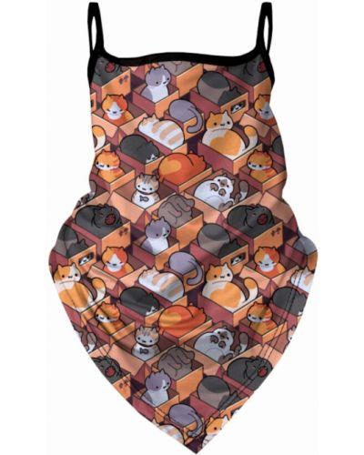 Pomarańczowa bandana materiałowa Mr. Gugu & Miss Go