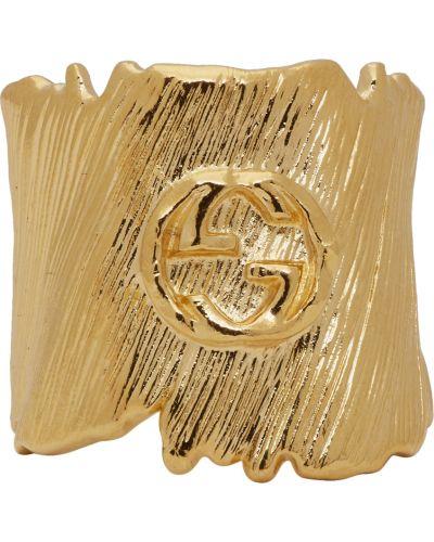 Złoty pierścionek Gucci