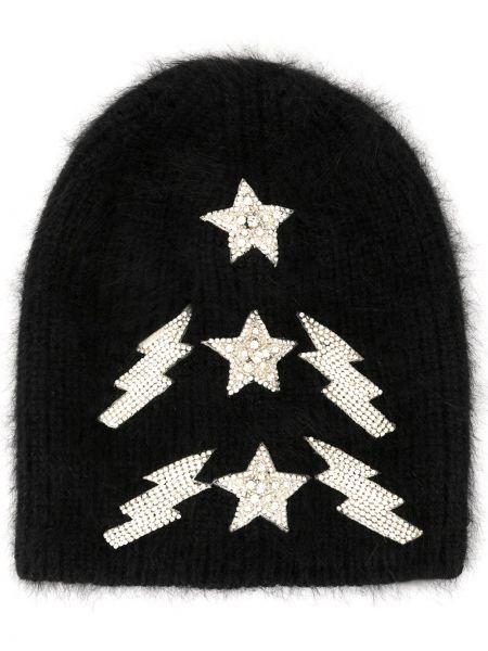 Czarna czapka wełniana Jennifer Behr