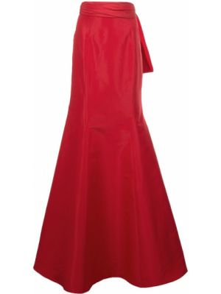 Ażurowa spódnica mini z wysokim stanem z jedwabiu Carolina Herrera
