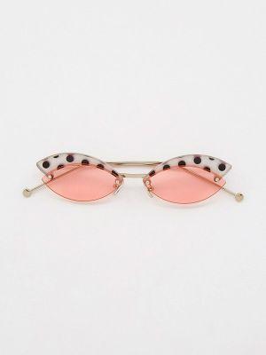 Розовые солнцезащитные очки узкого кроя Kaizi