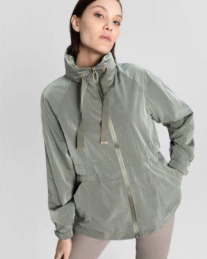 Городская зеленая нейлоновая куртка с капюшоном на молнии Ostin