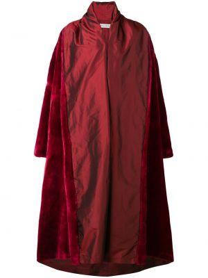 Красное акриловое пальто с воротником оверсайз Dolce & Gabbana Pre-owned