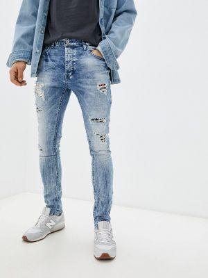 Голубые зимние зауженные джинсы Terance Kole