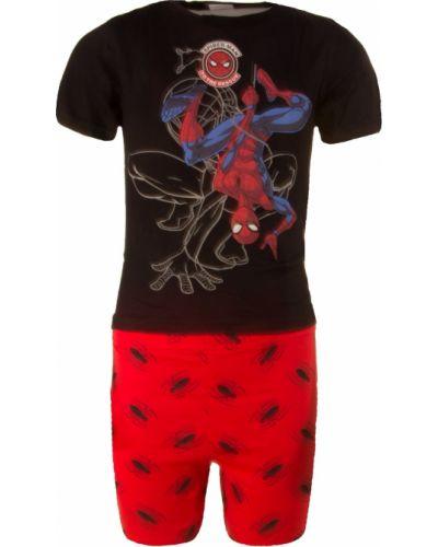Piżama bawełniana - czarna Character