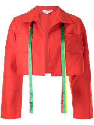 Красная куртка длинная Comme Des Garçons Girl
