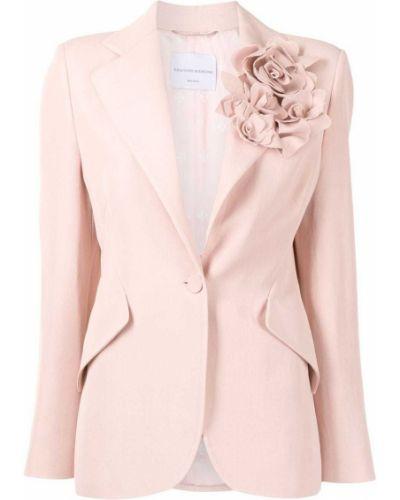 Розовый удлиненный пиджак на пуговицах из вискозы Ermanno Scervino