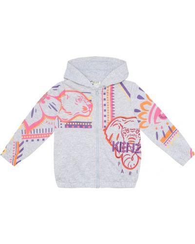 Bawełna bawełna bluza z kapturem Kenzo Kids