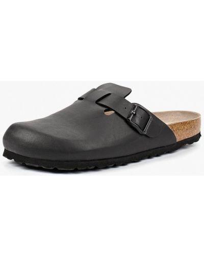 Черные кожаные сандалии Genuins
