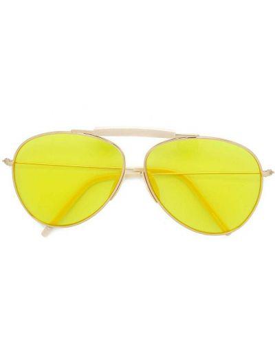 Złote żółte okulary Acne Studios