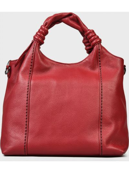 Кожаная сумка - красная Plinio Visona'
