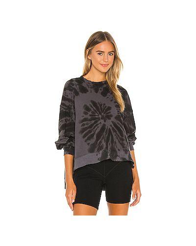 Электрическая хлопковый черный свитер Electric & Rose