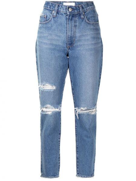 Синие с завышенной талией прямые джинсы Nobody Denim