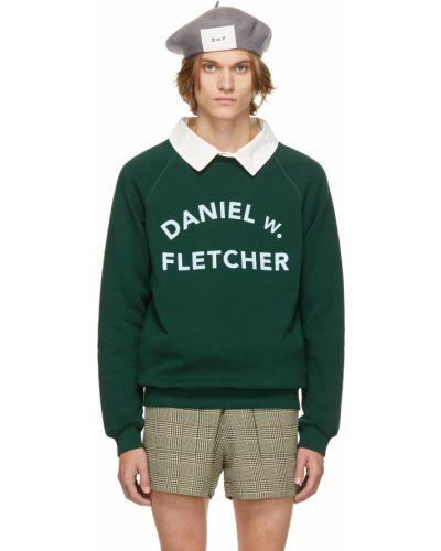 Niebieska bluza bawełniana Daniel W. Fletcher