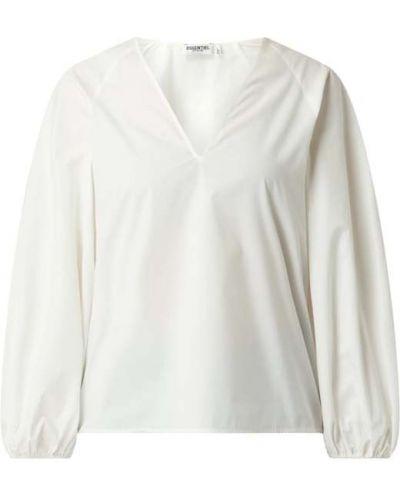 Biała bluzka bawełniana z dekoltem w serek Essentiel