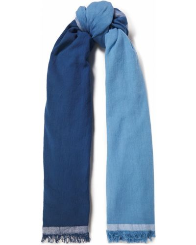 Ażurowy niebieski szalik bawełniany Acne Studios