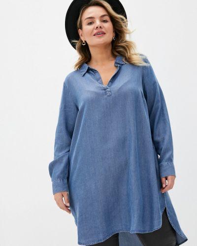 Синяя джинсовая рубашка Zizzi