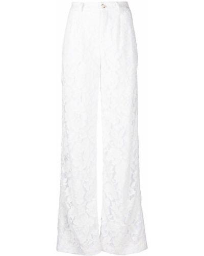 С завышенной талией прямые белые брюки Amen.