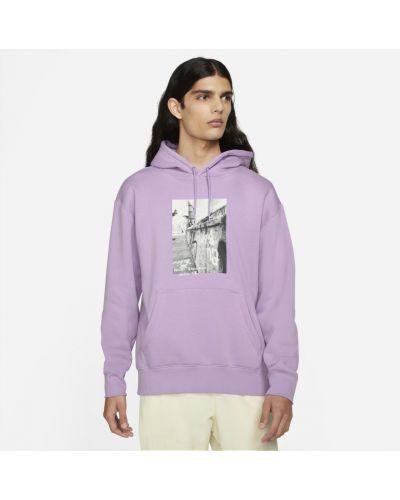 Bluza z nadrukiem z printem - fioletowa Nike