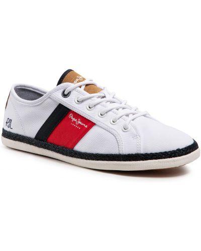Klasyczne półbuty - białe Pepe Jeans