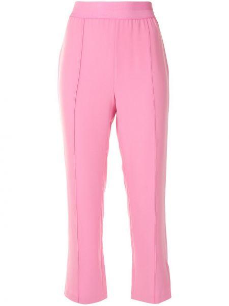 Розовые укороченные брюки с поясом узкого кроя без застежки Cinq À Sept