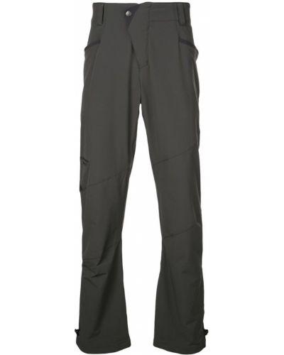 Прямые брюки с поясом на пуговицах новогодние Klättermusen