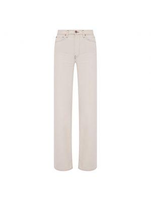 Прямые джинсы с завышенной талией - бежевые 3x1