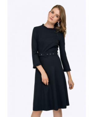 Платье миди классическое - синее Emka