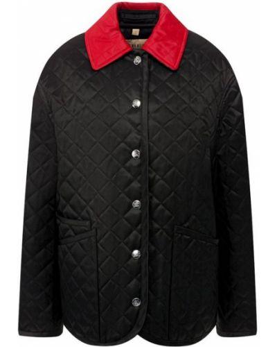 Стеганая куртка черная с подкладкой Burberry