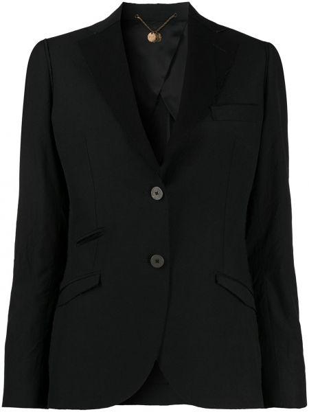 Приталенная черная куртка с манжетами на пуговицах Maurizio Miri