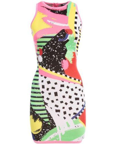 Różowa sukienka midi boho bez rękawów Balmain