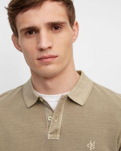 T-shirt basic bawełniany z haftem Marc O Polo