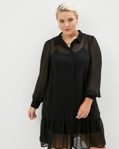 Повседневное черное платье Zizzi
