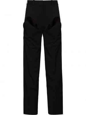 Шерстяные брюки - черные Y Project