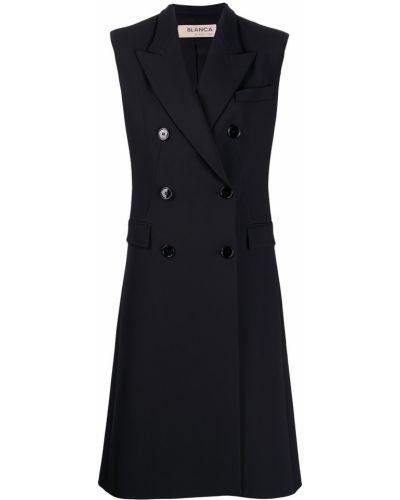 Черное пальто без рукавов Blanca