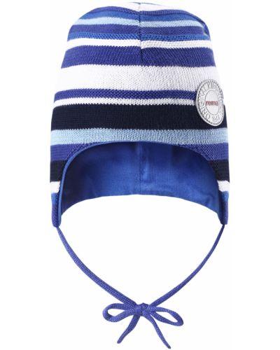 Вязаная шапка в полоску из джерси весенняя Reima