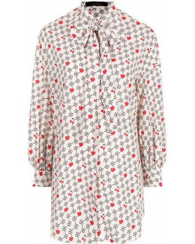 Brązowa bluzka z długimi rękawami Rokh