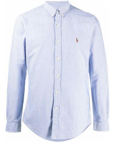 Niebieska koszula z długimi rękawami Ralph Lauren