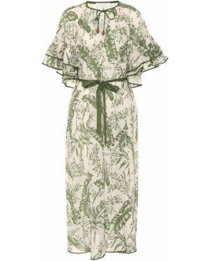 Платье миди ампир с принтом Zimmermann