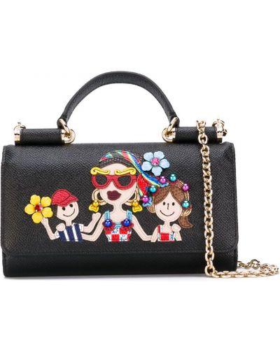 Кожаный кошелек мини с логотипом Dolce & Gabbana