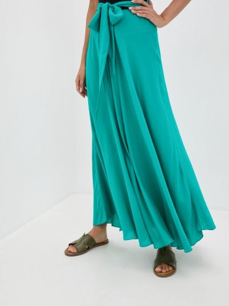 Зеленая юбка свободного кроя мадам т