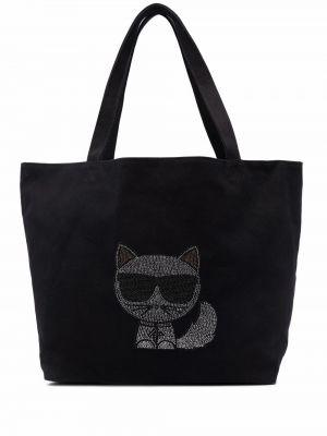 Черная сумка на молнии Karl Lagerfeld